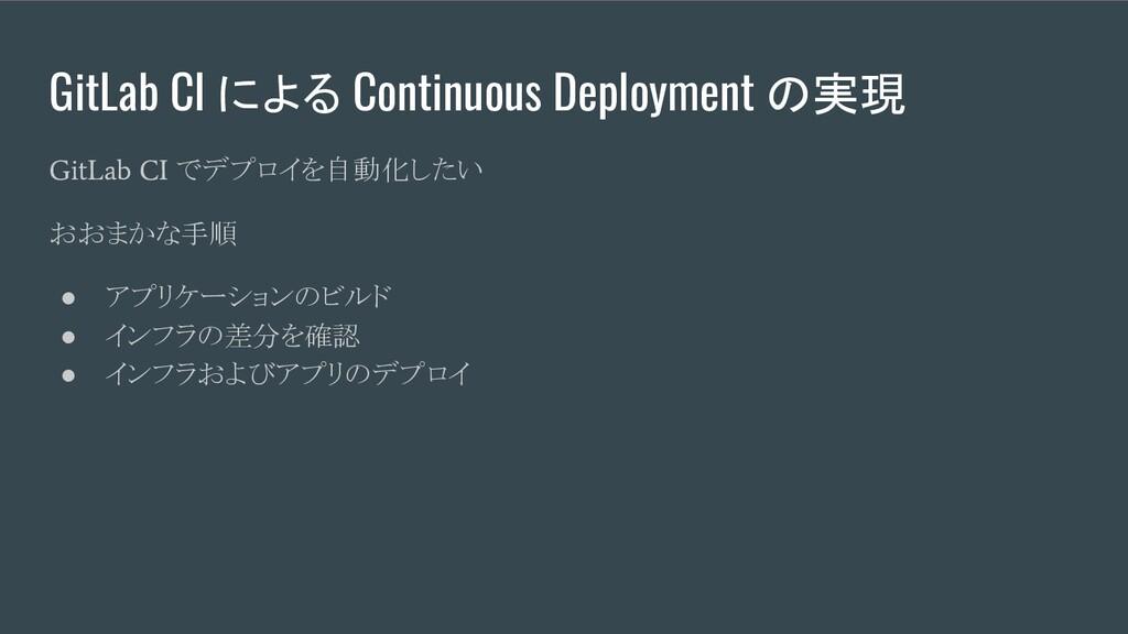 GitLab CI による Continuous Deployment の実現 GitLab ...
