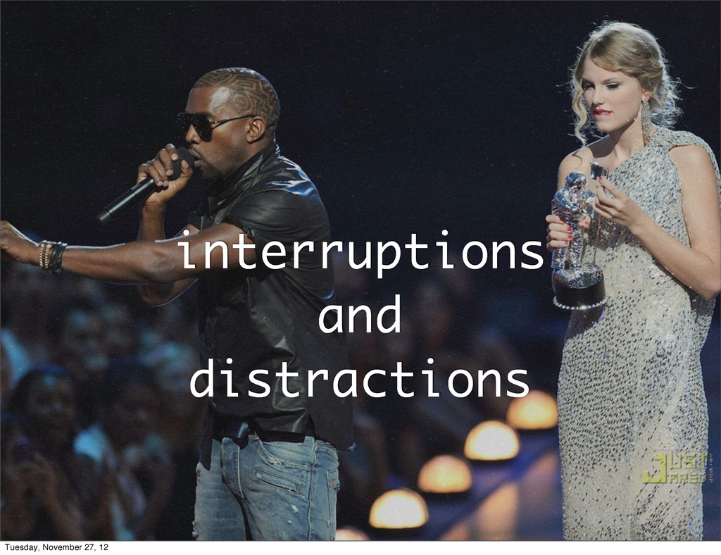 interruptions and distractions Tuesday, Novembe...
