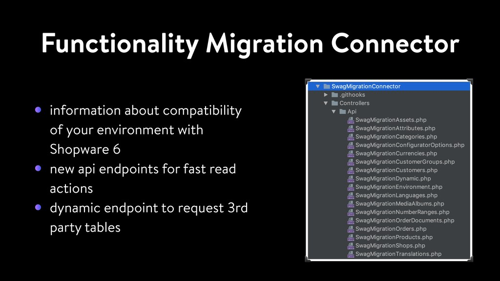 Functionality Migration Connector information a...