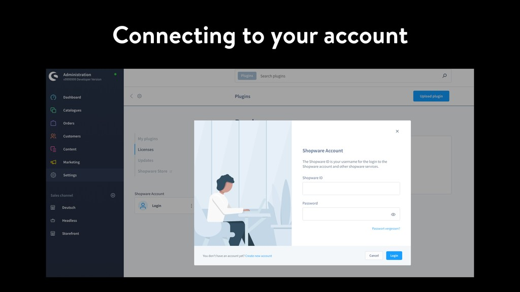 Connecting to your account