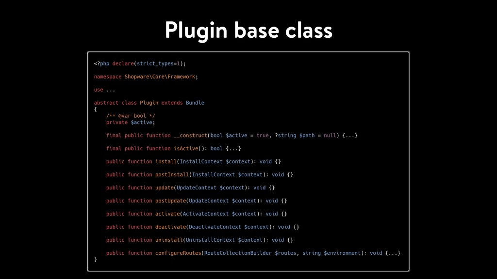 Plugin base class