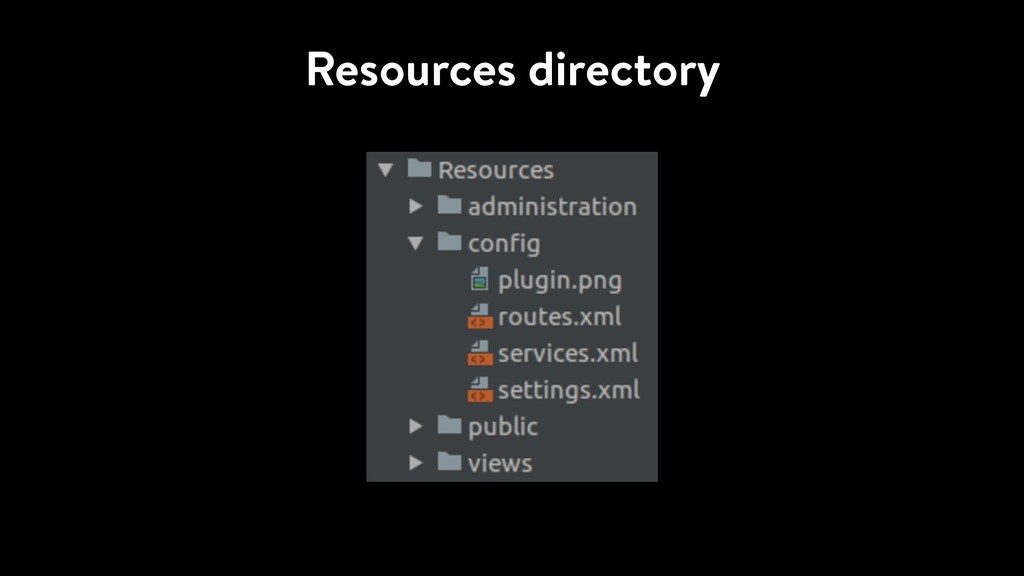 Resources directory