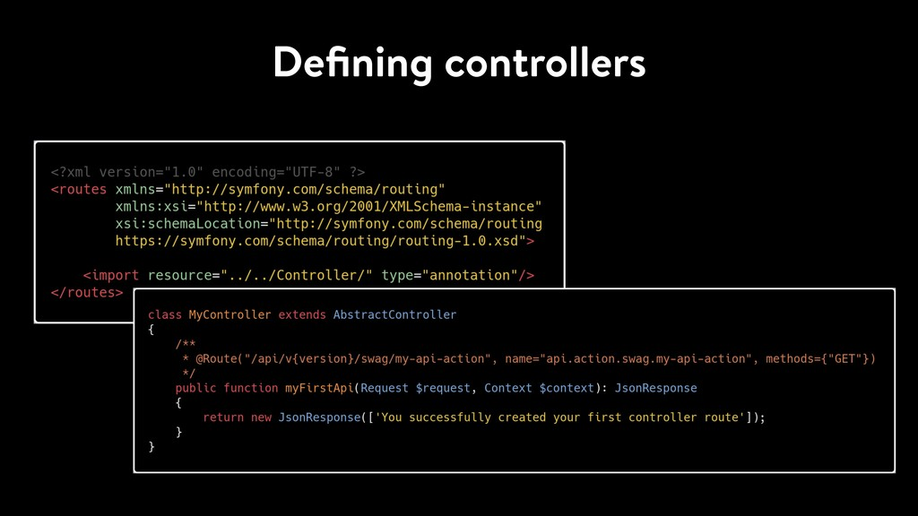 Defining controllers