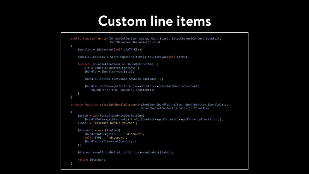 Custom line items
