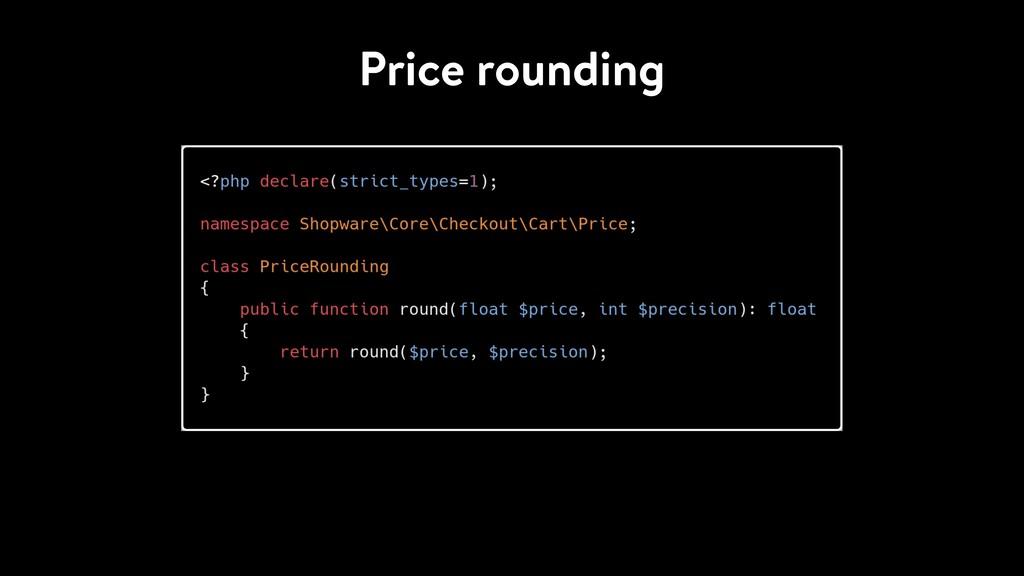 Price rounding
