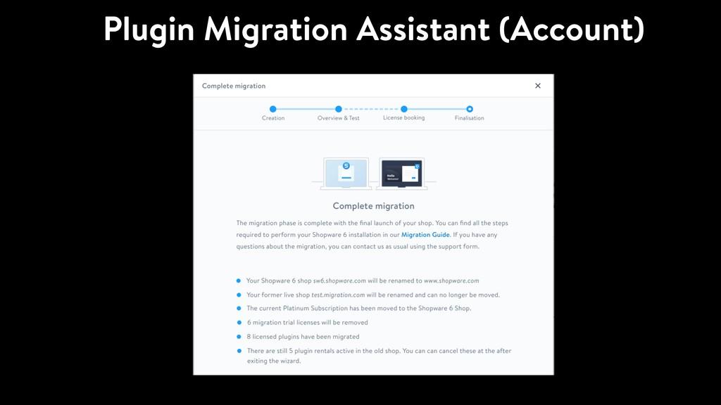 Plugin Migration Assistant (Account)