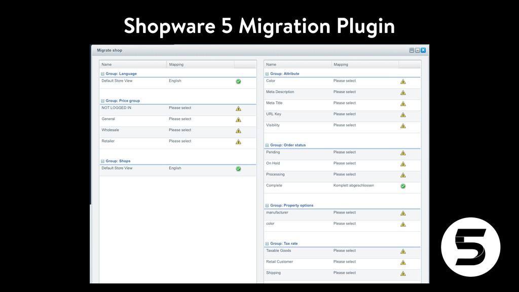 Shopware 5 Migration Plugin