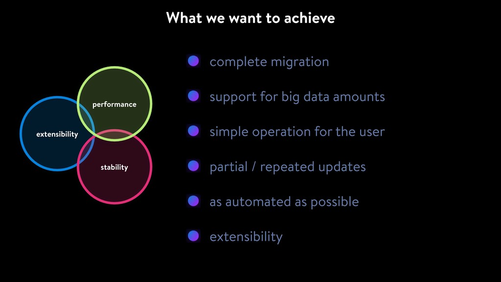 complete migration support for big data amounts...