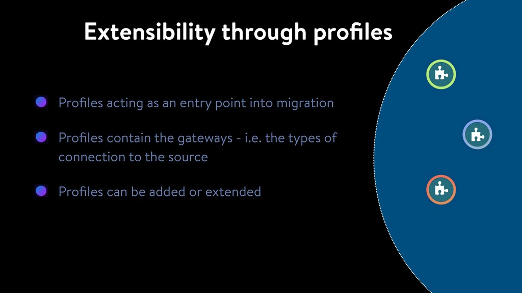 Profiles acting as an entry point into migration...