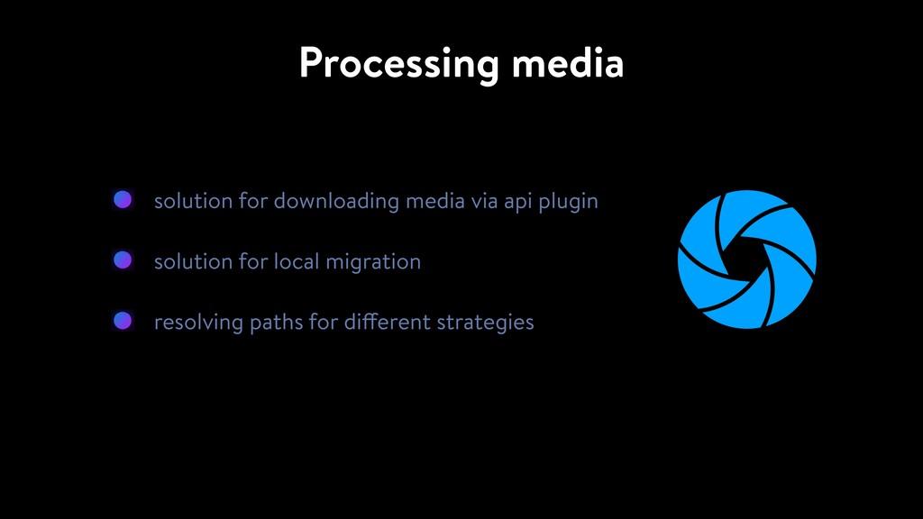 Processing media solution for downloading media...