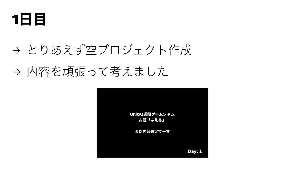 1 → ͱΓۭ͋͑ͣϓϩδΣΫτ࡞ → ༰Λؤுͬͯߟ͑·ͨ͠