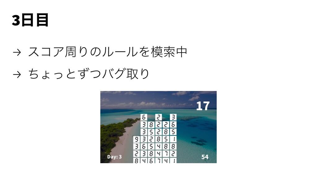 3 → είΞपΓͷϧʔϧΛࡧத → ͪΐͬͱͣͭόάऔΓ