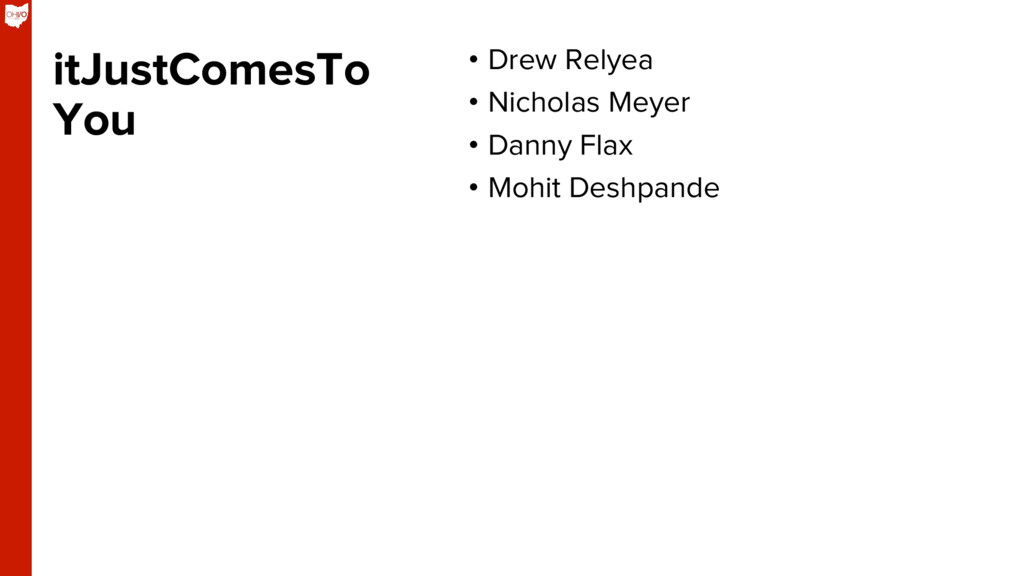 itJustComesTo You • Drew Relyea • Nicholas Me...
