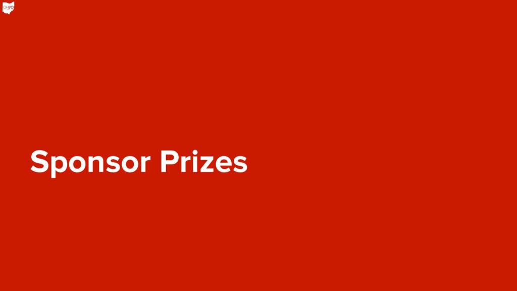 Sponsor Prizes