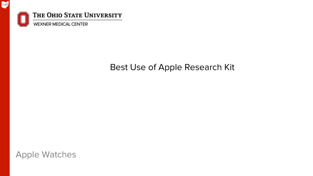 Apple Watches Best Use of Apple Research Kit