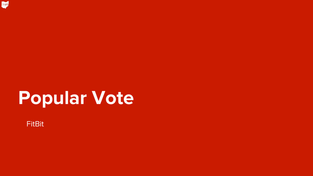 Popular Vote FitBit