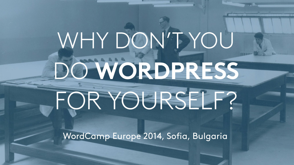 WHY DON'T YOU  DO WORDPRESS FOR YOURSELF? Wor...