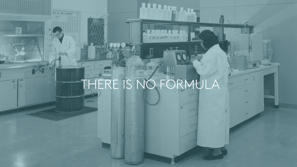 THERE IS NO FORMULA