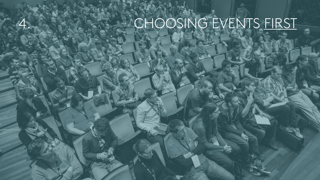 CHOOSING EVENTS FIRST 4.