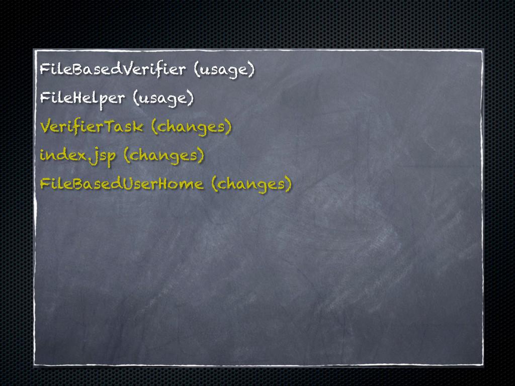 FileBasedVerifier (usage) FileHelper (usage) Ve...