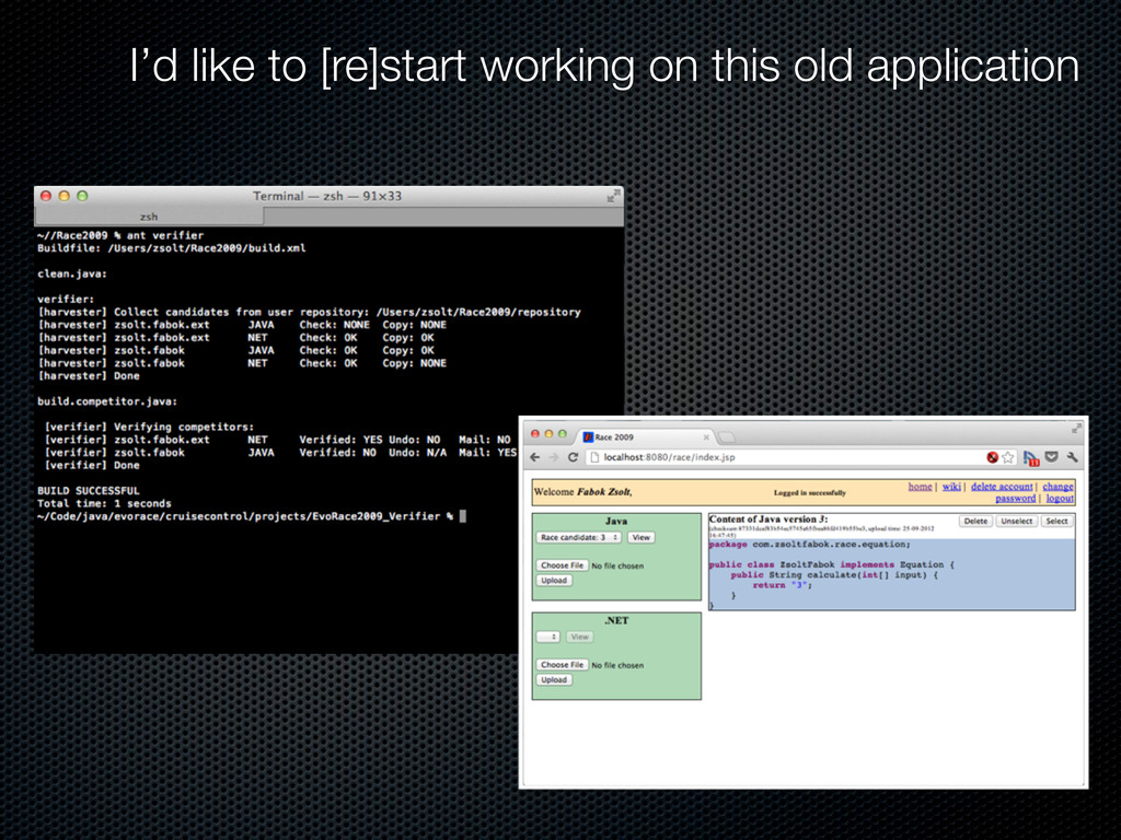 I'd like to [re]start working on this old appli...