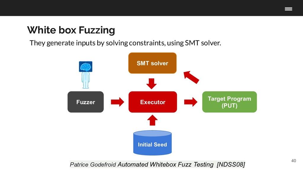 40 Fuzzer Target Program (PUT) Initial Seed Exe...