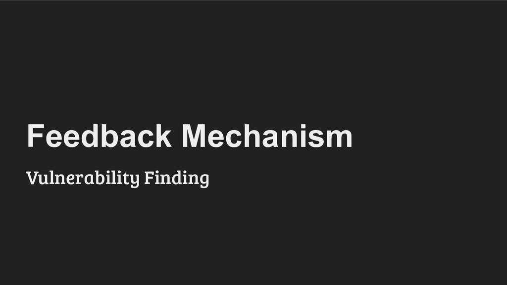 Feedback Mechanism Vulnerability Finding