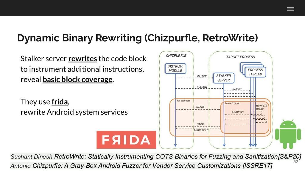 52 Dynamic Binary Rewriting (Chizpurfle, RetroWr...