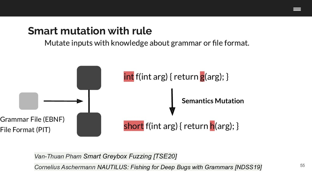 55 Smart mutation with rule Mutate inputs with ...