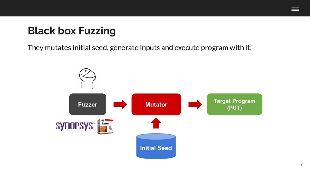7 Fuzzer Target Program (PUT) Initial Seed Muta...