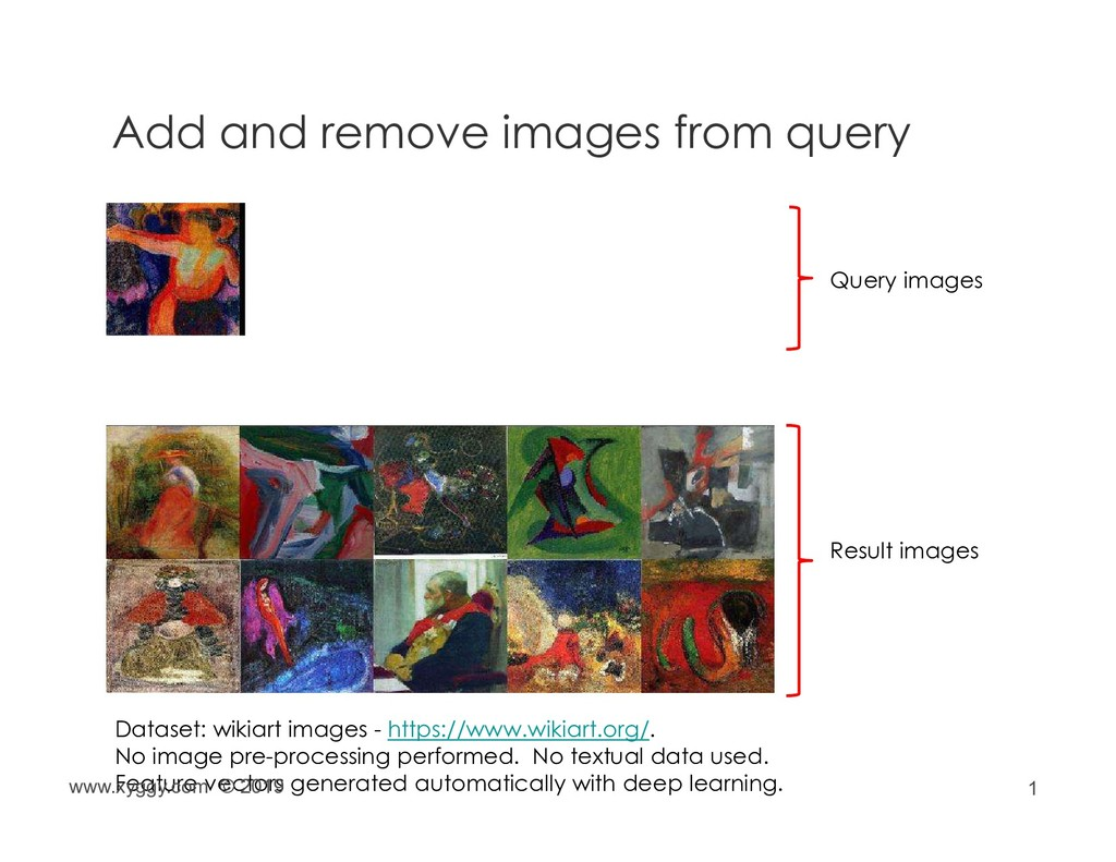 1 Add and remove images from query Query images...