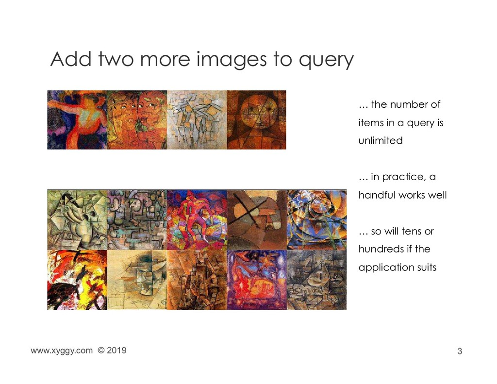3 Add two more images to query … the number of ...