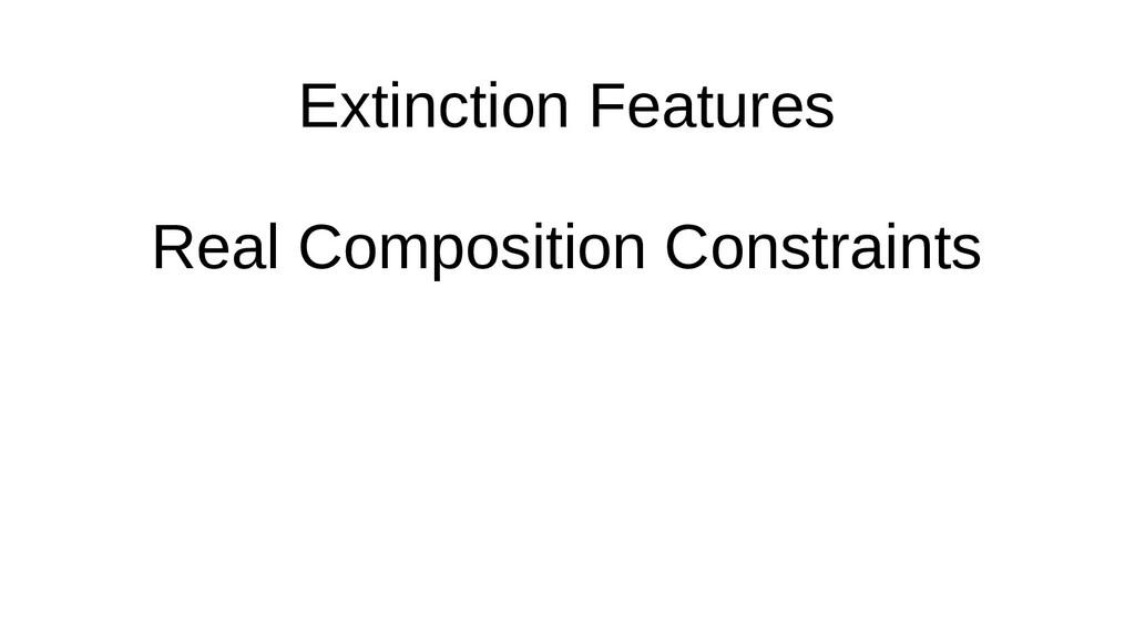 Extinction Features Real Composition Constraints