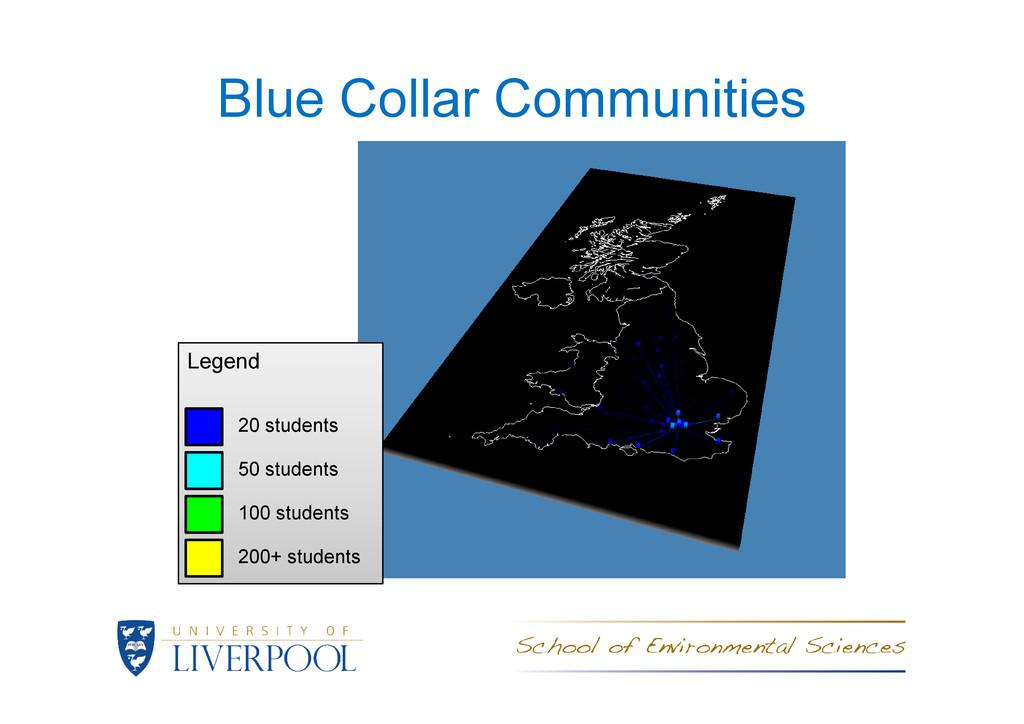 Blue Collar Communities Legend Legend 20 studen...