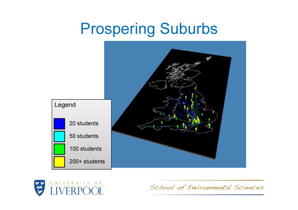Prospering Suburbs Legend Legend 20 students 50...