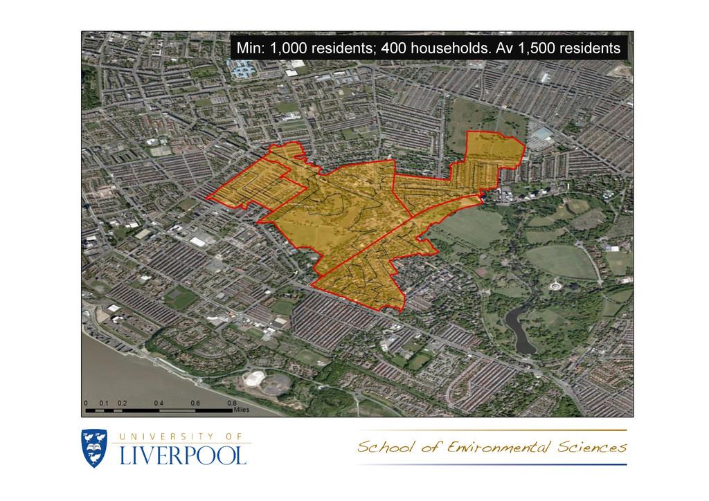 Min: 1,000 residents; 400 households. Av 1,500 ...