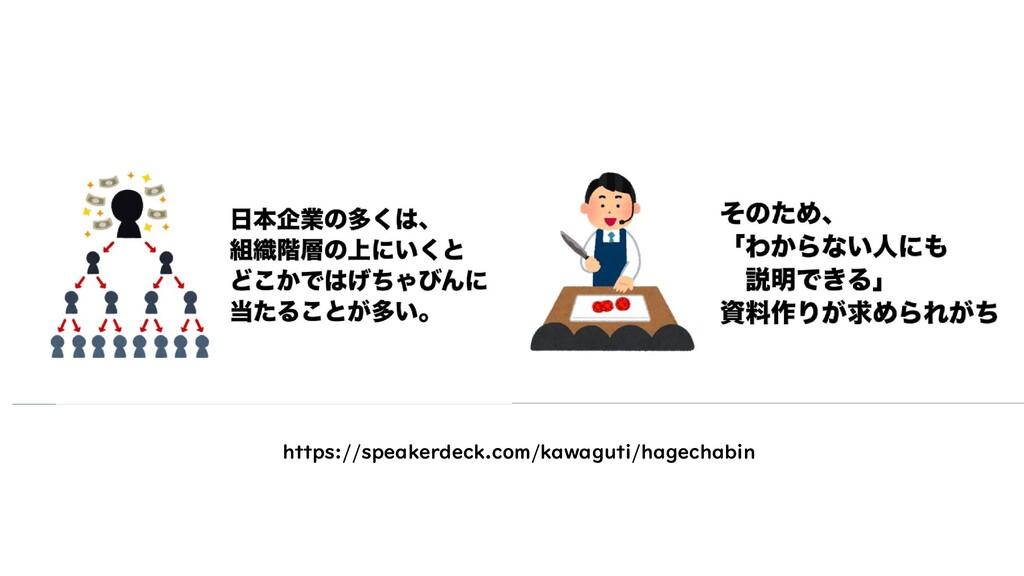 https://speakerdeck.com/kawaguti/hagechabin