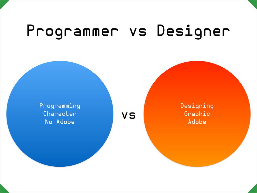 Programmer vs Designer Programming  Character  ...