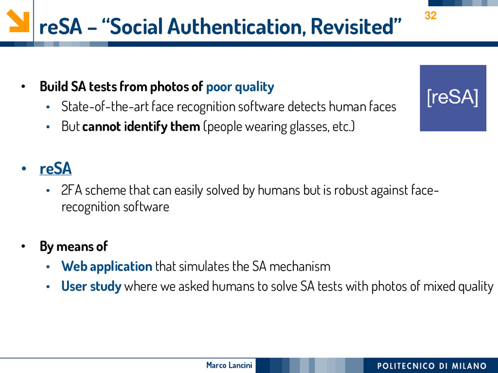"Marco Lancini reSA – ""Social Authentication, Re..."