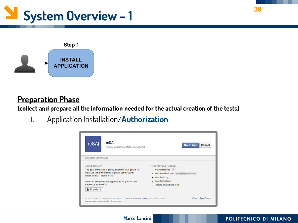 Marco Lancini System Overview – 1 Preparation P...