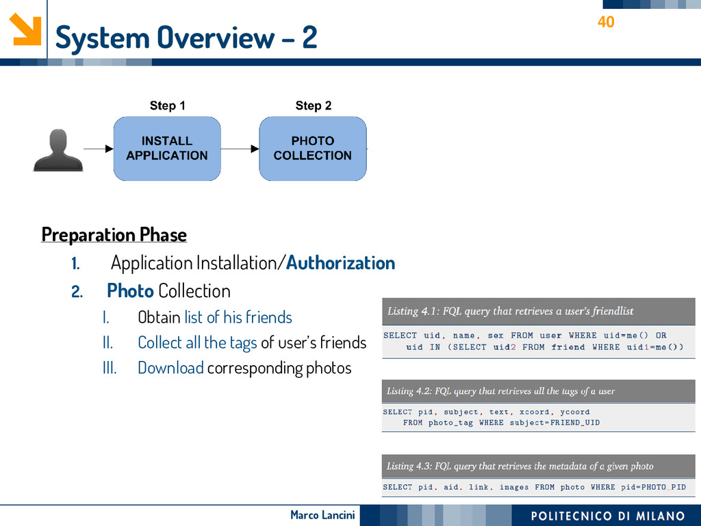 Marco Lancini System Overview – 2 Preparation P...