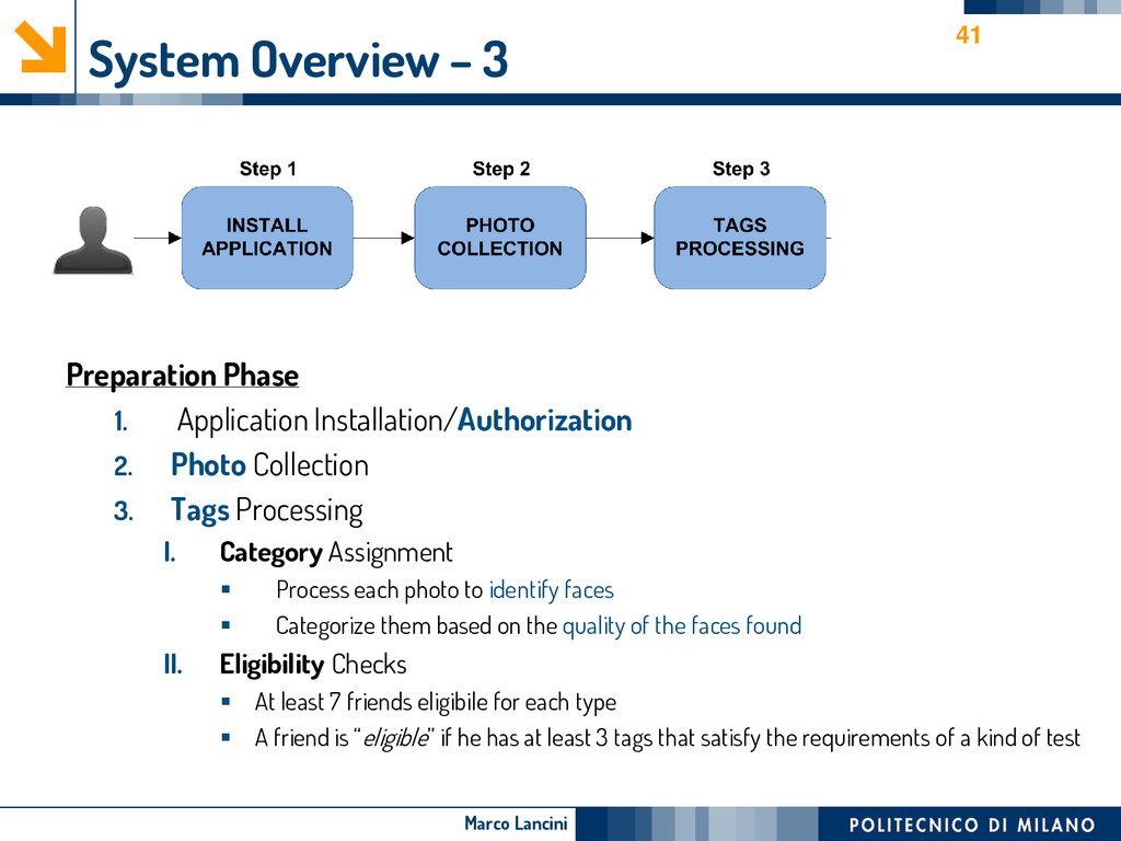 Marco Lancini System Overview – 3 Preparation P...