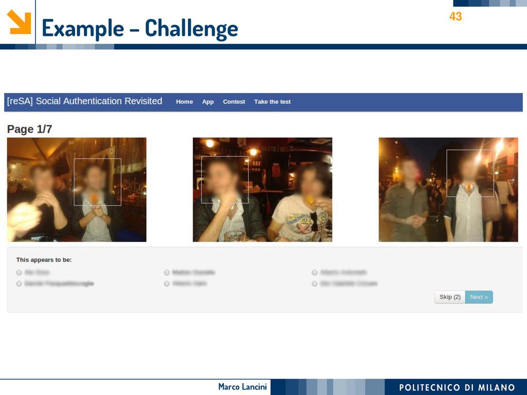 Marco Lancini Example – Challenge 43