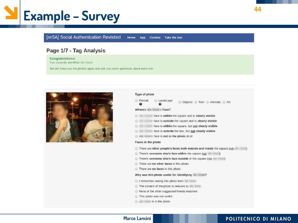 Marco Lancini Example – Survey 44