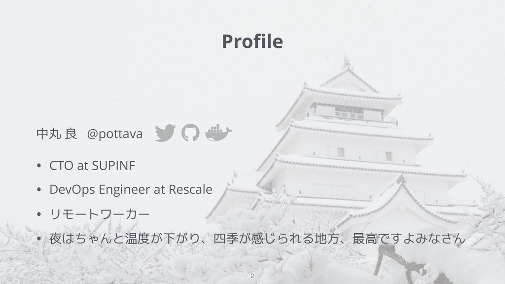 中丸 良 @pottava • CTO at SUPINF • DevOps Engineer...