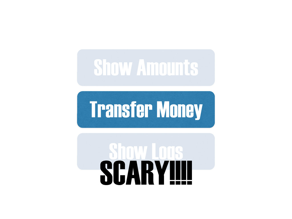Transfer Money Show Logs Show Amounts SCARY!!!!