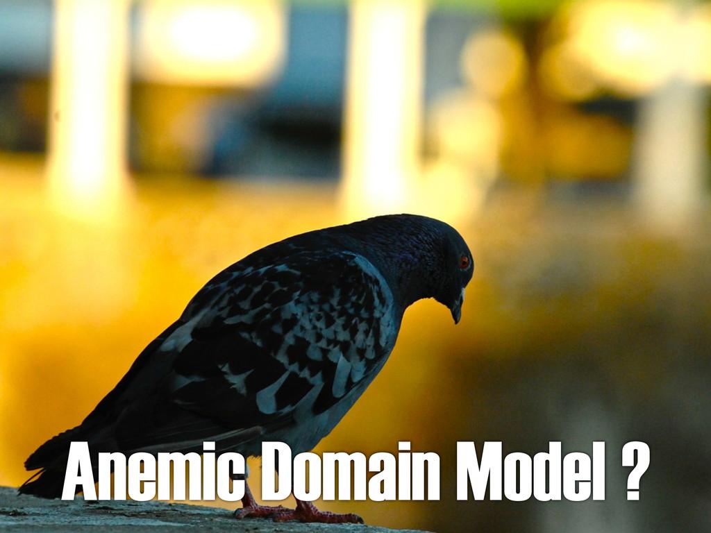 Anemic Domain Model ?