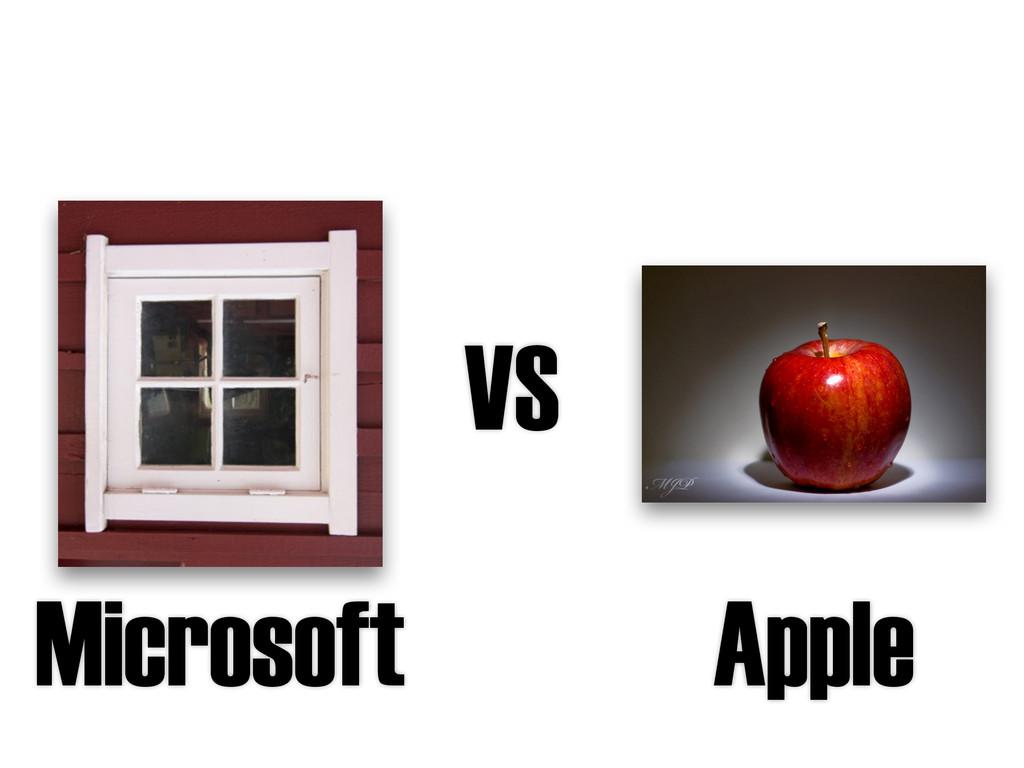 VS Microsoft Apple