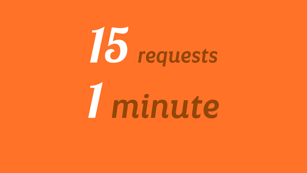 15 requests 1 minute