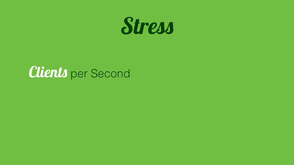 Clients per Second Stress